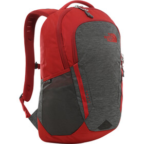 The North Face Vault Mochila, tnf dark grey heather/cardinal red